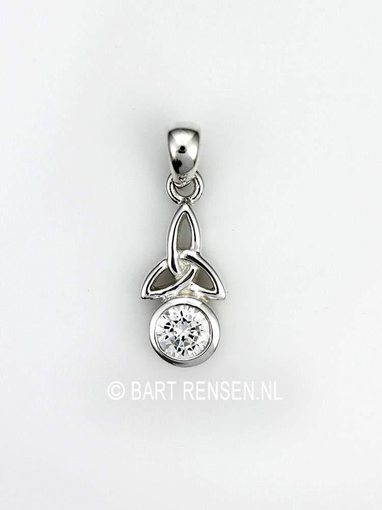 Triquetra pendant with stone triquetra pendant with stone sterling silver mozeypictures Image collections