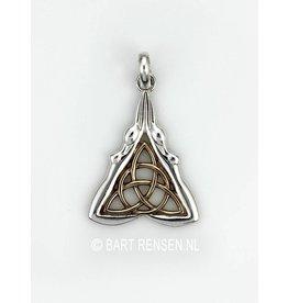 Keltische Godin hanger - zilver