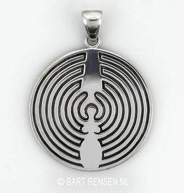 Dearinth labyrint hanger - zilver
