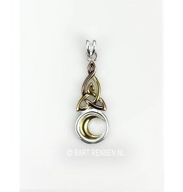 Triquetra pendant with Moon- silver