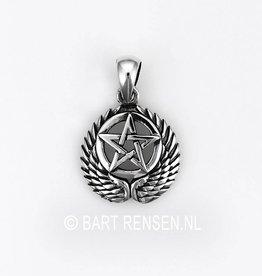 Gevleugelde Pentagram hanger
