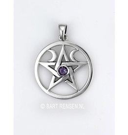 Pentagram Moon Pendant