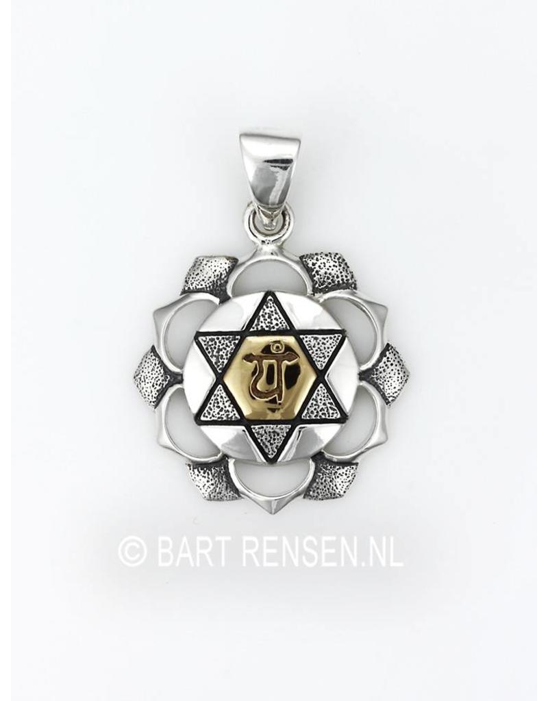 Heart chakra pendant silver heart chakra pendant sterling silver mozeypictures Images