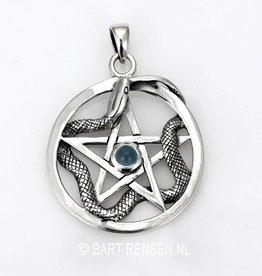 Pentagram Snake Pendant