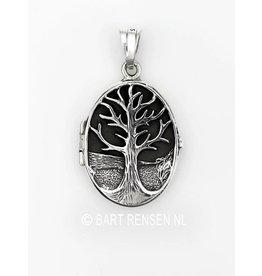 Medaillon Levensboom - zilver
