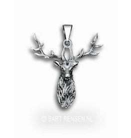 Deer pendant - silver