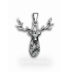 Hert hanger - zilver