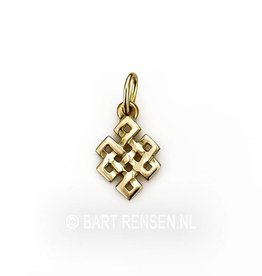 Tibetan knot pendant - gold