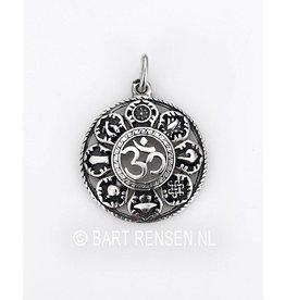 AUM pendant with lucky symbols