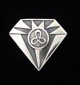 Zilveren Diamant Broche