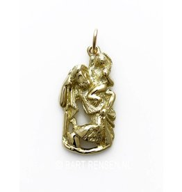 Golden Christopher pendant