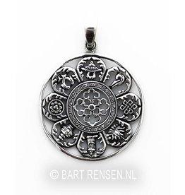Astamangala pendant - silver