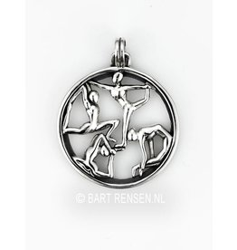 Silver Yoga pendant