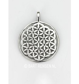 Flower of Life hanger - zilver