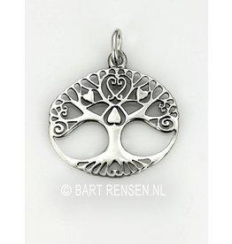 Levensboom Liefde hanger - zilver
