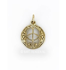 Golden Vesica Pisces pendant