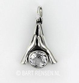 Namaste hanger - zilver