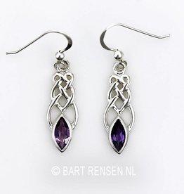 Celtic earrings with gemstone