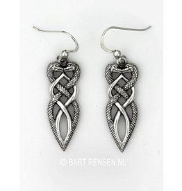Silver snakes earrings