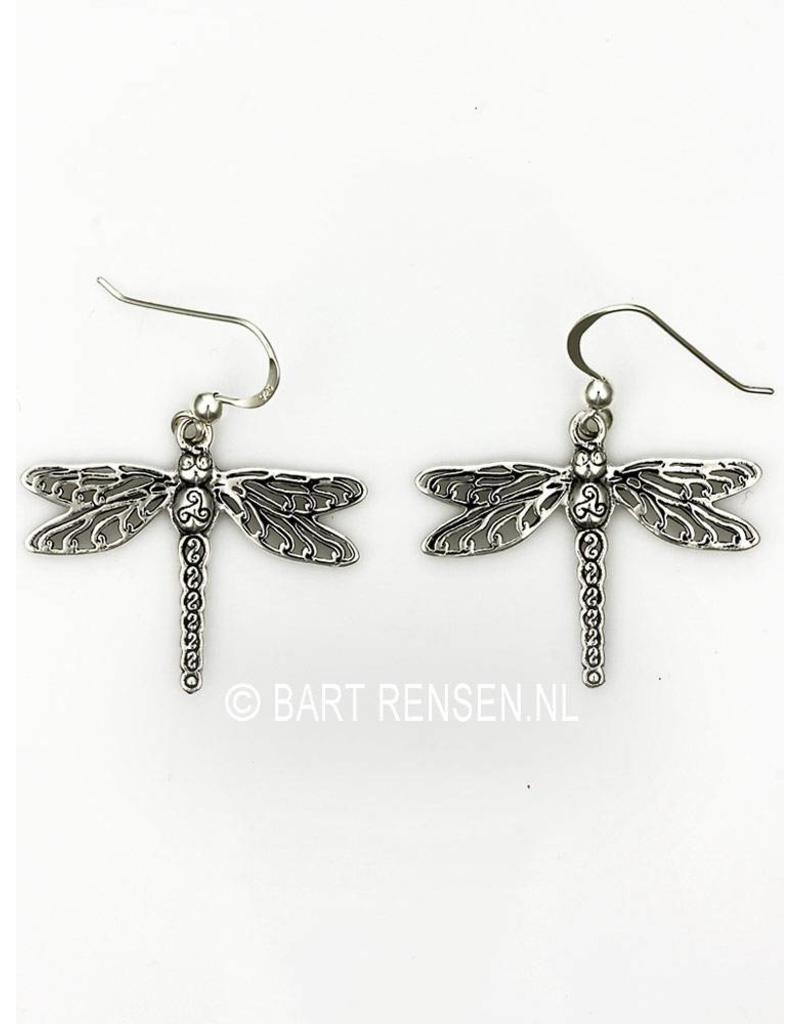 Dragonfly Earrings - sterling silver