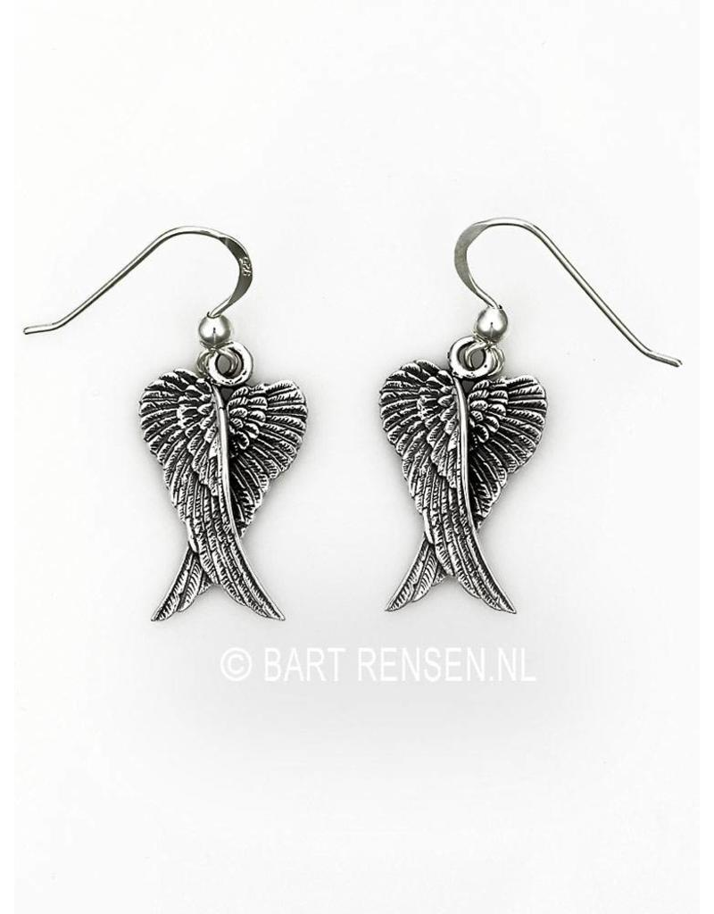 Engelvleugels Oorhangers - echt zilver