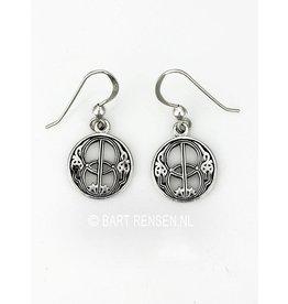 Silver Vesica Pisces Earrings