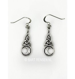 Triquetra Moon Earrings