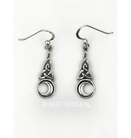 Triquetra Moon Earrings