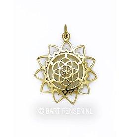 Gouden Seed of Life Lotus hanger