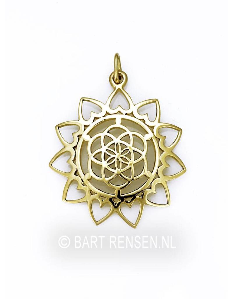Seed of Life Lotus hanger - 14 krt goud