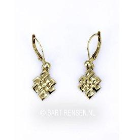 Golden Tibetan Knot earrings