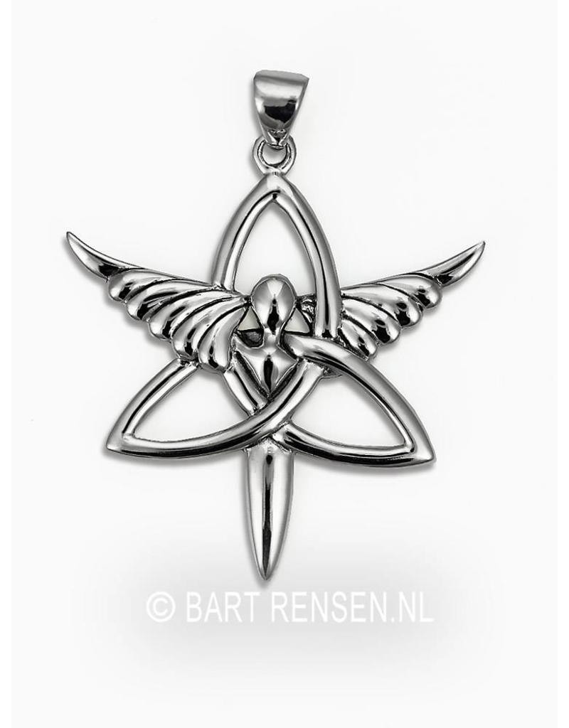 Triquetra Angel pendant - sterling silver