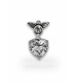 Angel pendant with zirconia