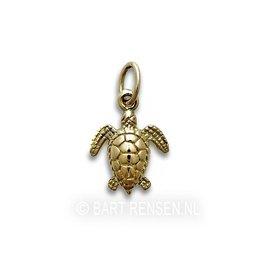 Gouden Schildpad hangertje