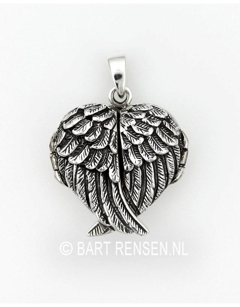 Vleugels medaillon hanger  - echt zilver