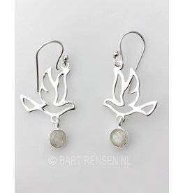 Silver Bird earrings