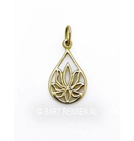 Gouden Lotus hangertje