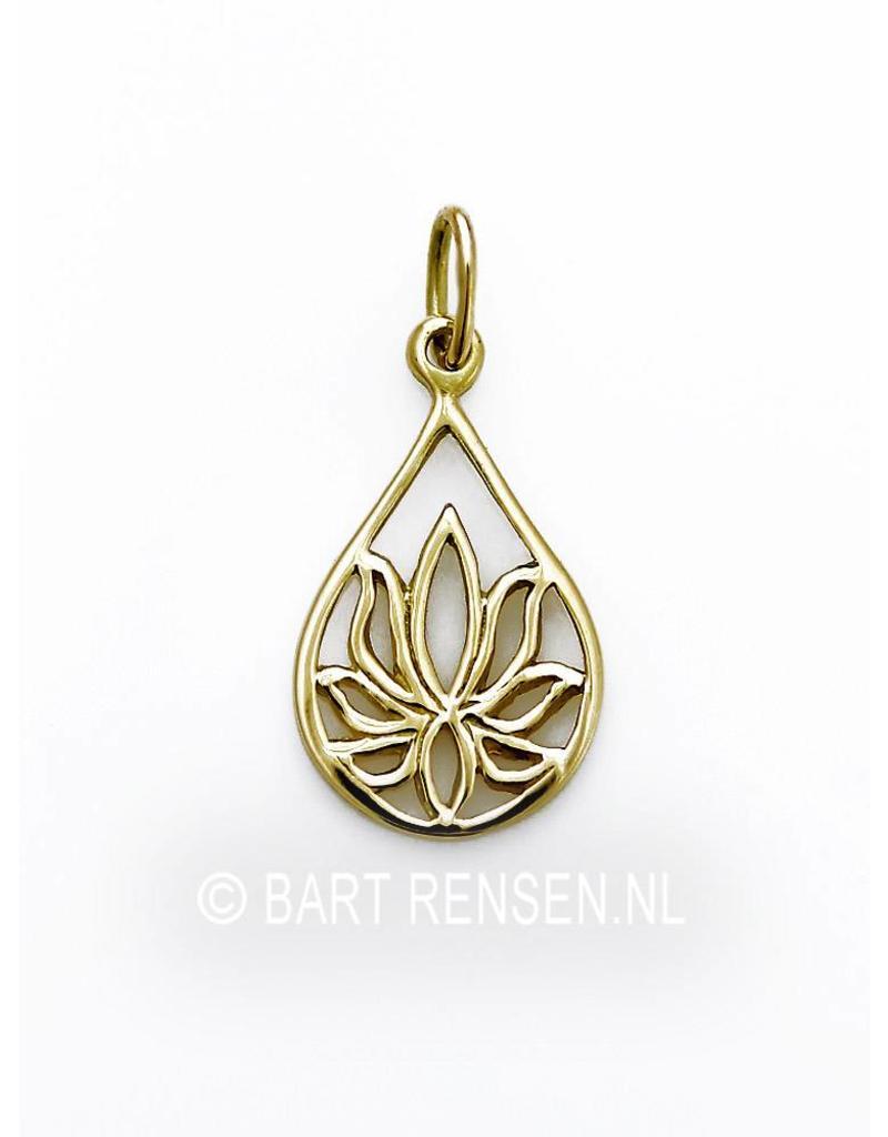 Lotus hangertje  - 14 krt goud