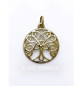Golden Celtic tree pendant