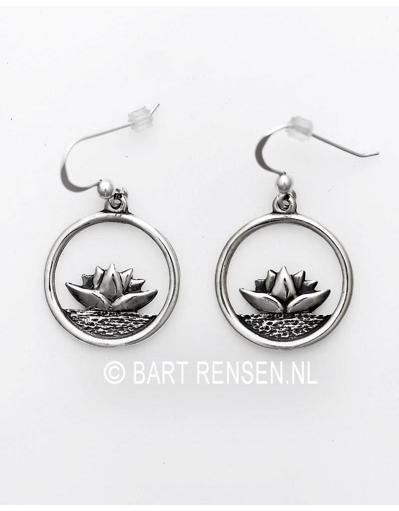 Lotus earrings - sterling silver