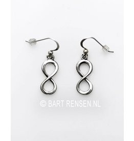 Lemniscate  earrings - silver