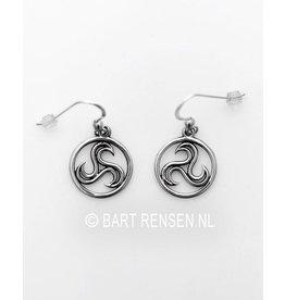 Triskel Earrings - silver