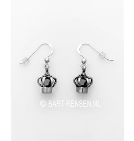 Crown earrings - silver