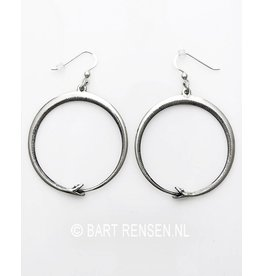 Silver Ouroboros Earrings
