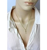 Yoga pendant - 14 crt gold or silver