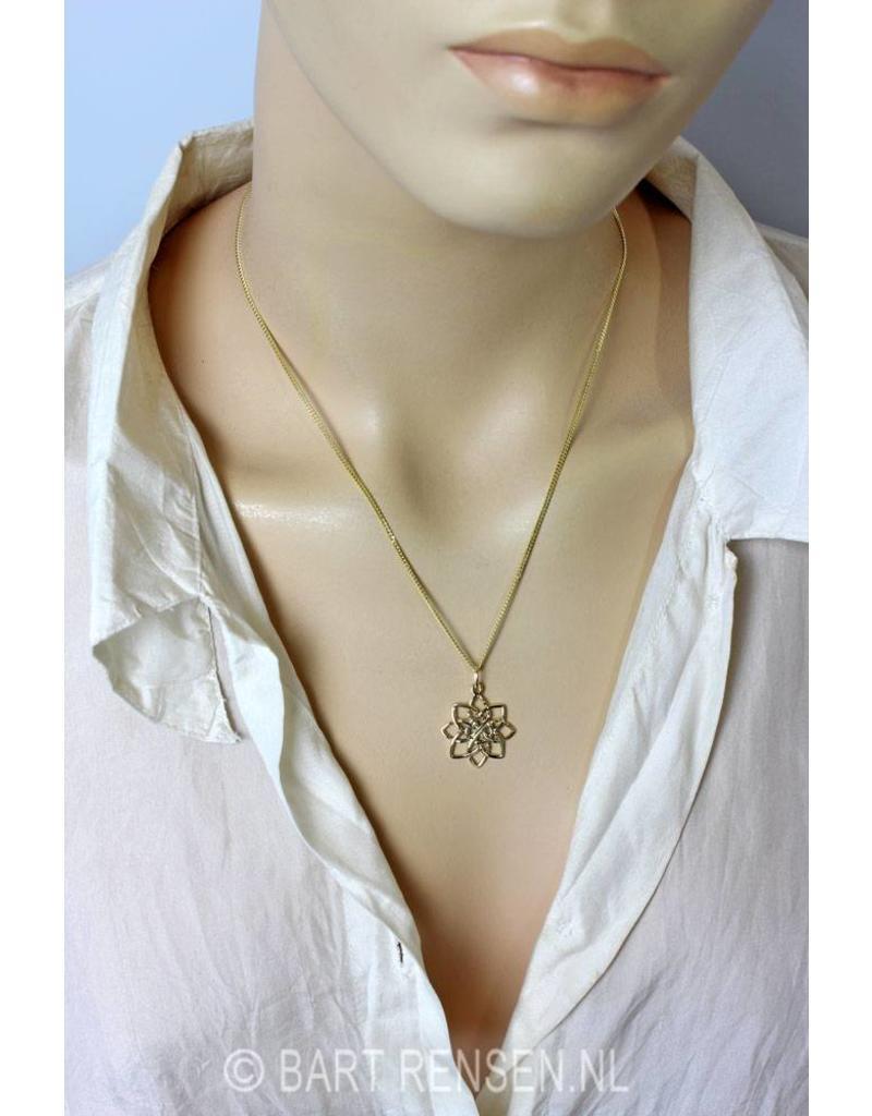 Keltische Lotus hanger  - 14 krt goud