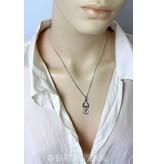 Angel Moon pendant -  sterling silver