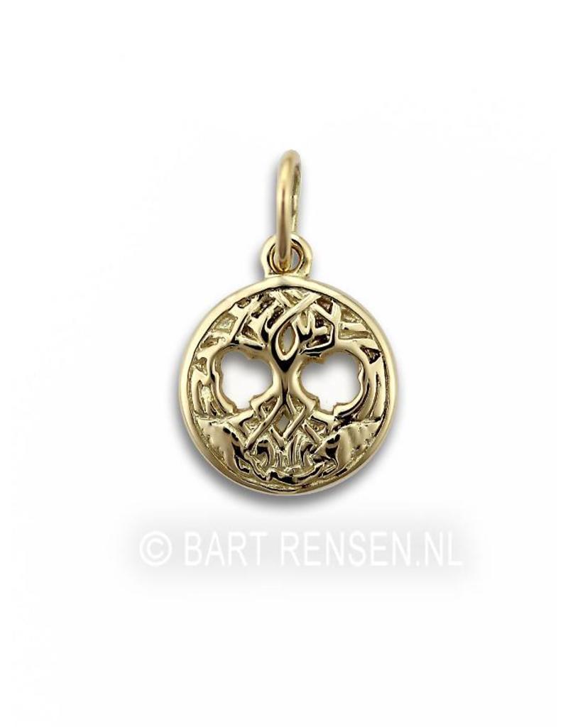 Keltisch Levensboom hangertje - 14 krt goud