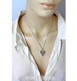 Keltische Hart hanger  - echt zilver
