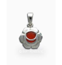 Sacral chakra pendant - silver